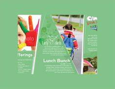 Junior School Kids Trifold Brochure  Kid Print  And Flyer Template