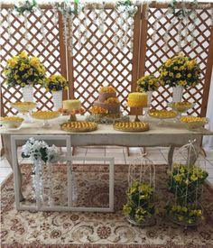 101 fiestas: 10 Decoraciones en Amarillo y Blanco
