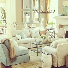 I love the couches for a formal living room