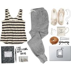 """It's 1pm and I'm still in my pajamas..."" by jocelynjasso2005 on Polyvore"