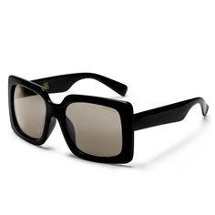 d955d911bd All-black square frame with dark U.V lenses High-quality hinges and  laser-engraved logo details Each pair comes with a drawstring vegan-leather  travel case