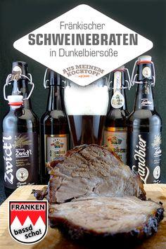 Franconian roast pork in dark beer sauce with glazed carrots - Dominik Sexton Dark Beer, Glazed Carrots, Dutch Recipes, Pork Roast, Dutch Oven, Grilling, Food And Drink, Easy Meals, Meat