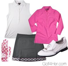 Pink and Grey Golf Outfit. I want dad to take me golfing!