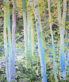 How to paint a group of trees in watercolor