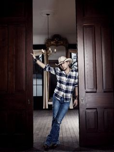Jason Aldean...Something about a boy with a southern accent that would hold that door open for me because his momma raised him right.