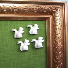 Push Pins White Squirrel Thumbtacks Office by lifemeetsart on Etsy, $10.00
