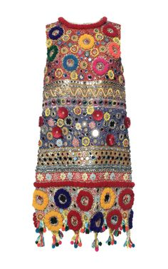 Carretto Cocktail Dress With Embroidered Pom Poms by DOLCE & GABBANA for Preorder on Moda Operandi