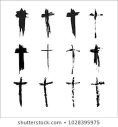 Various Crosses The image used to create a brush. Cross Symbol, Cross Tattoo Designs, Trash Polka, Diy Projects, Tattoos, Image, Ideas, Arm Tattoos, Useful Tips
