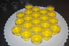 Lemon drop Jell-O shot. Lemon vodka with lemon Jell-O… Party Drinks, Cocktail Drinks, Fun Drinks, Yummy Drinks, Cocktail Recipes, Alcoholic Drinks, Cocktails, Drinks Alcohol, Lemon Jello Shots