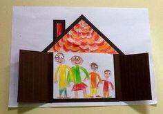 27 Ideias para o Dia da Família - Aluno On Preschool Family Theme, Preschool Themes, Family Crafts, Preschool Activities, Art For Kids, Crafts For Kids, All About Me Preschool, Sunday School Crafts, Kindergarten Art