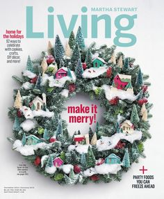 """Want to try your own version of the Martha Stewart Living December cover? Get Alaskan Spruce 30"""" wreath seen here @homedepot. #HowToHoliday"""