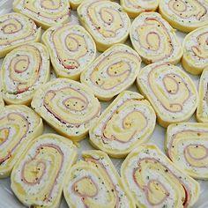 Sonkás-tojásos sajttekercs