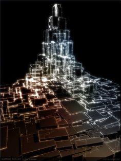 Joanie Lemercier light mapping.