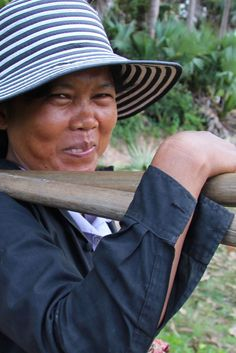 Cambodian farmer - 80% of Cambodia`s population lives in rural areas.