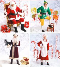 LAST ONE! SANTA CLAUS Costume Pattern - Mrs Claus ELF Father Time Christmas Costumes #patterns4you