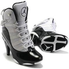 Air Jordan 6 Retro High Heels Black White