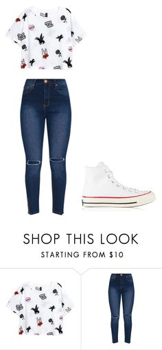 """""""Untitled #328"""" by thenerdyfairy on Polyvore featuring Converse"""