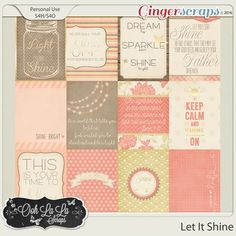 Let It Shine Journal and Pocket Scrapbook Cards