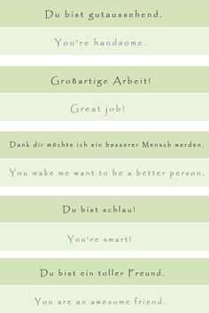 Top 10 Compliments You Always Want to Hear - learn German,vocabulary,communication,german Study German, German English, Learn German, Learn English, German Grammar, German Words, Work In Silence, Deutsch Language, Learning Languages Tips