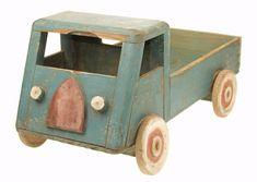 jouet à pousser, camion 40/50s - mid-century vintage push toy © Musée du Jouet de Bruxelles