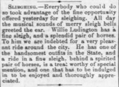 Lawrence Daily Journal of Lawrence, Kansas on January 16, 1870. | How to Conduct a Sleigh Ride (Victorian America) | KristinHolt.com