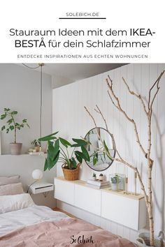 The most beautiful ideas with the IKEA BESTA for your bedroom! - IKEA Besta – Ideen für dein Wohnzimmer, Flur & Co. - The most beautiful ideas with the IKEA BESTA for your bedroom! Bohemian Room, Bedroom Inspo, Ikea Bedroom, Ikea Hack, Bed Sheets, Home And Living, Living Rooms, Sweet Home, New Homes