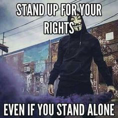 Even you stand alone