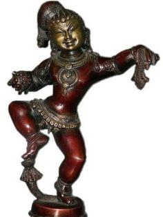 "Dancing Bala Krishna Brass Sculpture Hindu Spiritual Statue Spectacular Brass Idol ,Red Patina 11"" by Mogul Interior, http://www.amazon.com/dp/B00BVZ8EAG/ref=cm_sw_r_pi_dp_Rd2rrb1VS78CS"