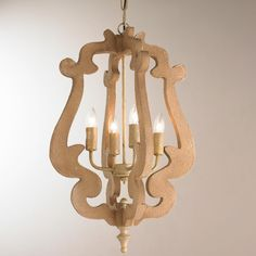 Metal and Wood Scroll Lantern - Shades of Light