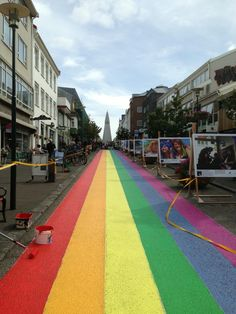 Gaypride week is on in Reykjavik. and this decor is part of the program. Pretty darn cool in my opinion! My Photo Album, Rainbow Photo, Somewhere Over, Lgbt Community, Pedestrian, Color Of Life, Pavement, Gay Pride, Iceland