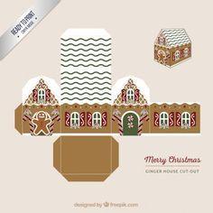 Mini gingerbread house printable