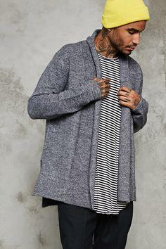 Shawl Collar Woolen Cardigan