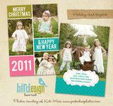 Holiday Photocard   Dots & Fun   Photoshop templates for photographers by Birdesign