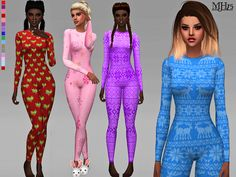 -Some festive woolly onesies for your sims to keep snug at winter Found in TSR Category 'Sims 4 Female Everyday'
