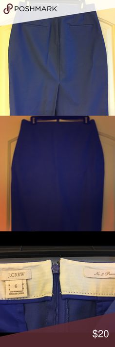 "Jcrew no. 2 pencil skirt SIZE & FIT Sits below waist. 23 1/2"" long. Falls to knee.  runs small  PRODUCT DETAILS You asked, we listened... Our original No. 2 pencil skirt silhouette is back, and it features exactly what you've been missing—like a waistband that sits lower on your waist and that still-flattering knee length.  Cotton/viscose/elastane. Machine wash. J. Crew Skirts Pencil"