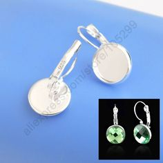 50PCS/Lot  925 Sterling Silver Jewelry Finding 12MM  Cabochon Cameo Settings Earring Base Earring Settings French Lever Back♦️ SMS - F A S H I O N 💢👉🏿 http://www.sms.hr/products/50pcslot-925-sterling-silver-jewelry-finding-12mm-cabochon-cameo-settings-earring-base-earring-settings-french-lever-back/ US $6.39