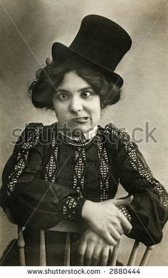 Vintage Photo A Young Woman With Crossed Eyes Making A Face At The ...