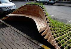 1. Banco modular LIFT, vencedor de um concurso em Portland, Estados Unidos, projetado pelo escritório de design e arquitetura Dis-section.