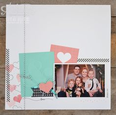 start the year with a scrapbook page to remind you to do the things you love in 2015! - krista frattin  Stampin' Up!