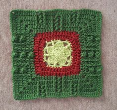 """Ravelry: Project Gallery for Hugs N Kisses 12"""" Square pattern by Aurora Suominen"""