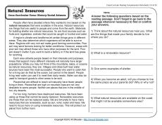 4th grade social studies comprehension worksheets