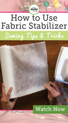 Fabric stabilizer is a great product when it comes to machine embroidery, but it can have many other uses too! Watch as Ellen March explains some of her creative uses for fabric stabilizer, including applique and pattern templates. Whether it's wash-away, tear-away or cut-away fabric stabilizer, applying it to the wrong side of fabric when doing applique can make the process much easier by keeping the fabric flat. Keeping your fabric pucker fre...