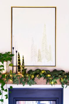 Affordable Christmas wall art is hard to come by. So, learn how to make DIY Christmas tree art with these simple Christmas tree drawings. #fromhousetohaven #DIYChristmasdecor #Christmastreeart #Christmasart #winterart #Christmastreedrawing #winterartwork #Christmaswallart