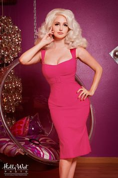 Pinup Couture Jessica Dress in Hot Pink $112 at pinupgirlclothing.com