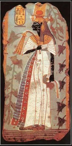 Ahmose-Nefertari of Ancient Egypt was the first Queen of the 18th Dynasty. She was a daughter of Seqenenre Tao II and Ahhotep I, and royal sister and the great royal wife of pharaoh, Ahmose I. She was the mother of king Amenhotep I and may have served as his regent when he was young. Ahmose-Nefertari was deified after her death.