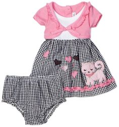 Girl Dress : Youngland Baby Girls Infant Mock Cardigan Seersucker Dress With Applique And Diaper Cover Kids Outfits Girls, Toddler Outfits, Girl Outfits, Fashion Outfits, Cute Baby Girl, Baby Girl Newborn, Baby Girls, Newborn Hats, Baby Hats