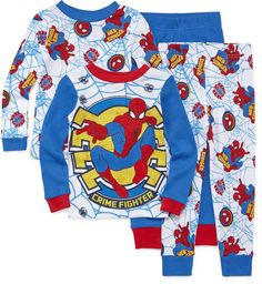 LICENSED PROPERTIES 4-pc. Marvel Spiderman Pajama Set- Toddler Boys 2t-4t