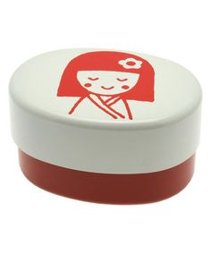 Another great find on #zulily! Red Kokeshi Bento Box #zulilyfinds