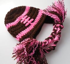 Baby Girl Football Pink  Hat  Crochet by ShelleysCrochetOle, $16.00