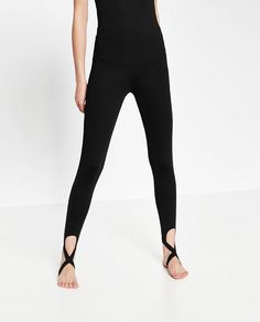 Image 2 of BALLET LEGGINGS WITH CROSSOVER ANKLE STRAP from Zara